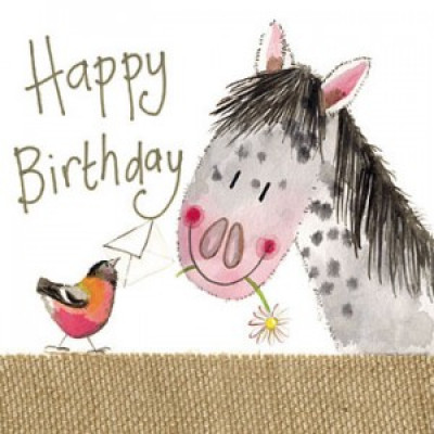 Pretty Pony Large Sparkle Card