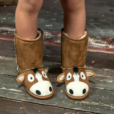 Horsey Slipper Boots (Childrens)