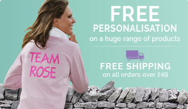Free Personalisation and Delivery